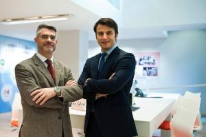 Xavier Casajoana, CEO de VozTelecom y Josep Bou, Gerente de OIGAA 360° Barcelona